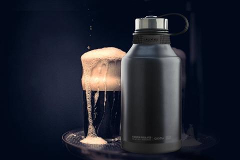 Гроулер-термос для пива Asobu King (1,9 литра), черный