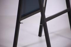 УН-150-40 Зеркало напольное обувное (черное)