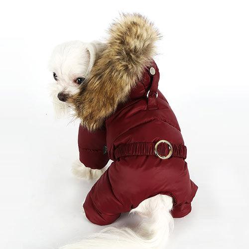 бордовый комбинезон для собак девочек