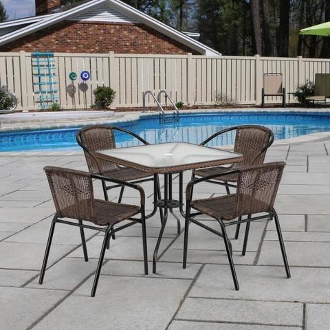 Комплект мебели для летнего кафе Асоль-3 TLH-037AR3/070SR-70х70 R-05 Cappuccino (4+1)
