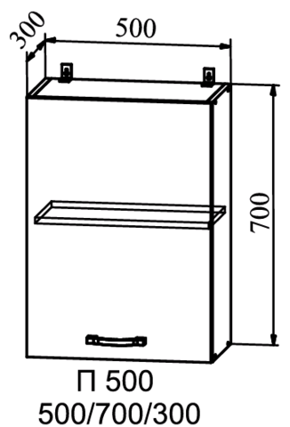 Кухня Гранд шкаф верхний 500