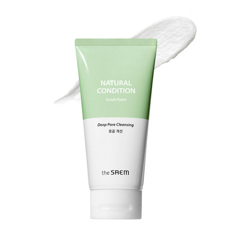 THE SAEM Natural Condition Пенка-скраб для лица Natural Condition Scrub Foam [Deep pore cleansing] 150мл