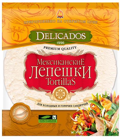 """Лепешки """"DELICADOS"""" Tortillas оригинальные 400 г"""