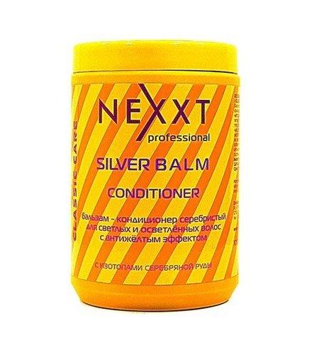Бальзам-кондиционер серебристый для светлых и седых волос с антижелтым эффектом, NEXXT, 1000 мл