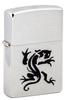 Зажигалка Zippo Panther с покрытием Brushed Chrome, латунь/сталь, серебристая, матовая, 36х12х56