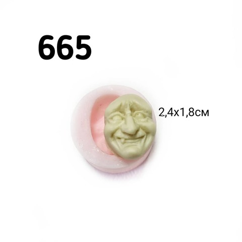 0665 Молд силиконовый. Лицо бабушки.