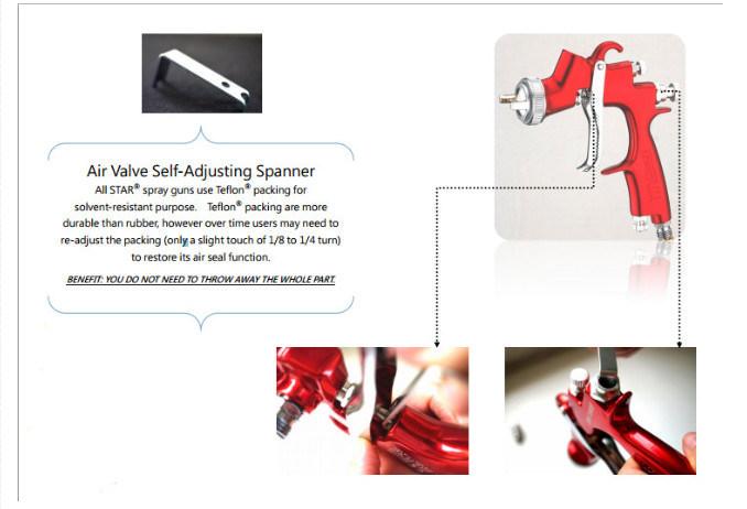 Ключ для замены внутренних частей краскопульта