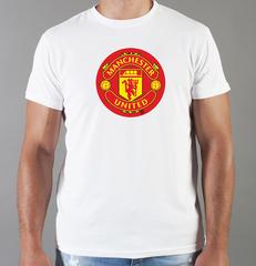 Футболка с принтом FC Manchester United (ФК Манчестер Юнайтед) белая 0011