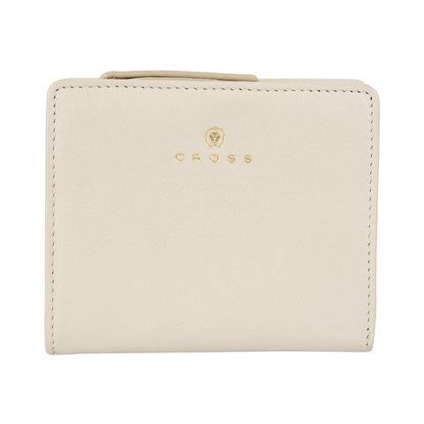 Женский кожаный компактный кошелёк 11х9,5х2см CROSS Monaco Ivory AC898083_1-16