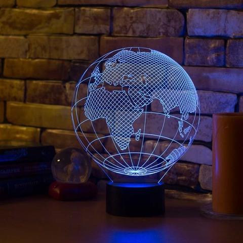 3D ночник Европа (глобус)