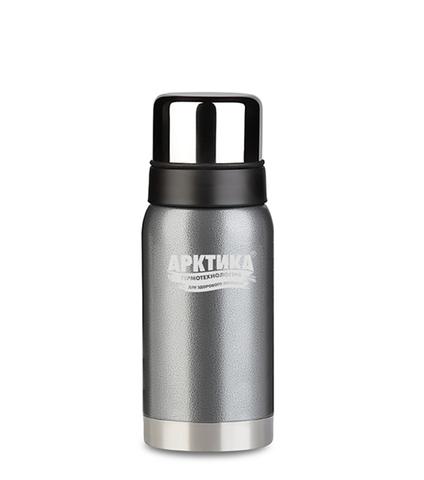 Термос Арктика (0,5 литра) с узким горлом американский дизайн, серый