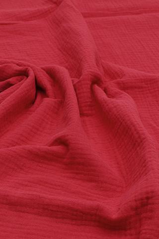 Ткань муслиновая,красная