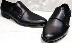 Модные черные туфли свадебные мужские Ikoc 2205-1 BLC.