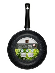 Сковорода 26 см глубокая с крышкой DARIIS с 3-х слойным антипригарным покрытием БВР-110 серия Гранит Мечта