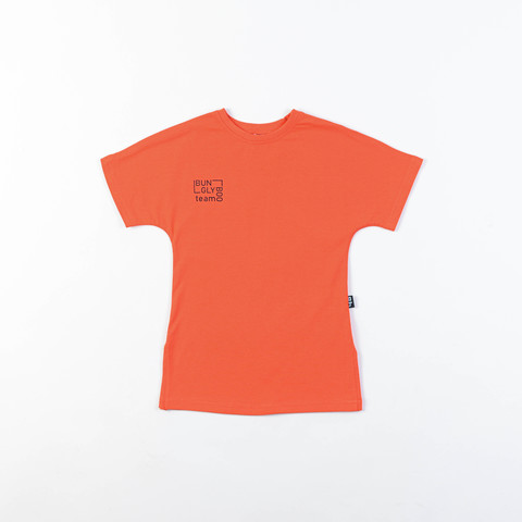 Bb team oversized T-shirt dress for teens - Coral