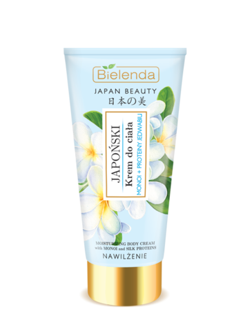 JAPAN BEAUTY Японский крем для тела, Масло монои + Протеины шелка, 200 мл