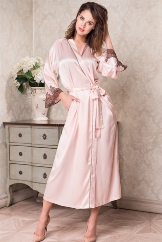 Длинный халат Mia-Amore MARILIN 70% натуральный шелк