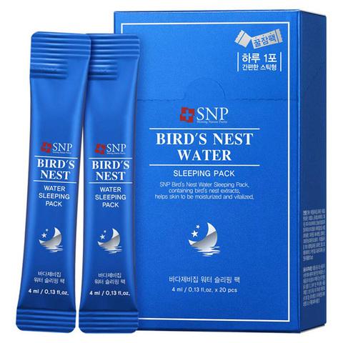 SNP Омолаживающая ночная маска на основе ласточкиного гнезда Bird's Nest Water Sleeping Pack, 4мл*20