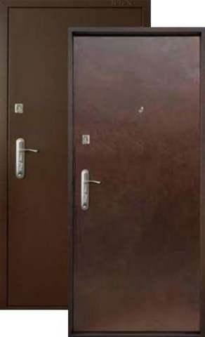 Дверь входная Меги ДС-234, 2 замка, 1,5 мм  металл, (античная медь+античная медь)