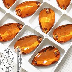 Дешево и недорого купить оптом оранжевые пришивные стразы Orange, Drope