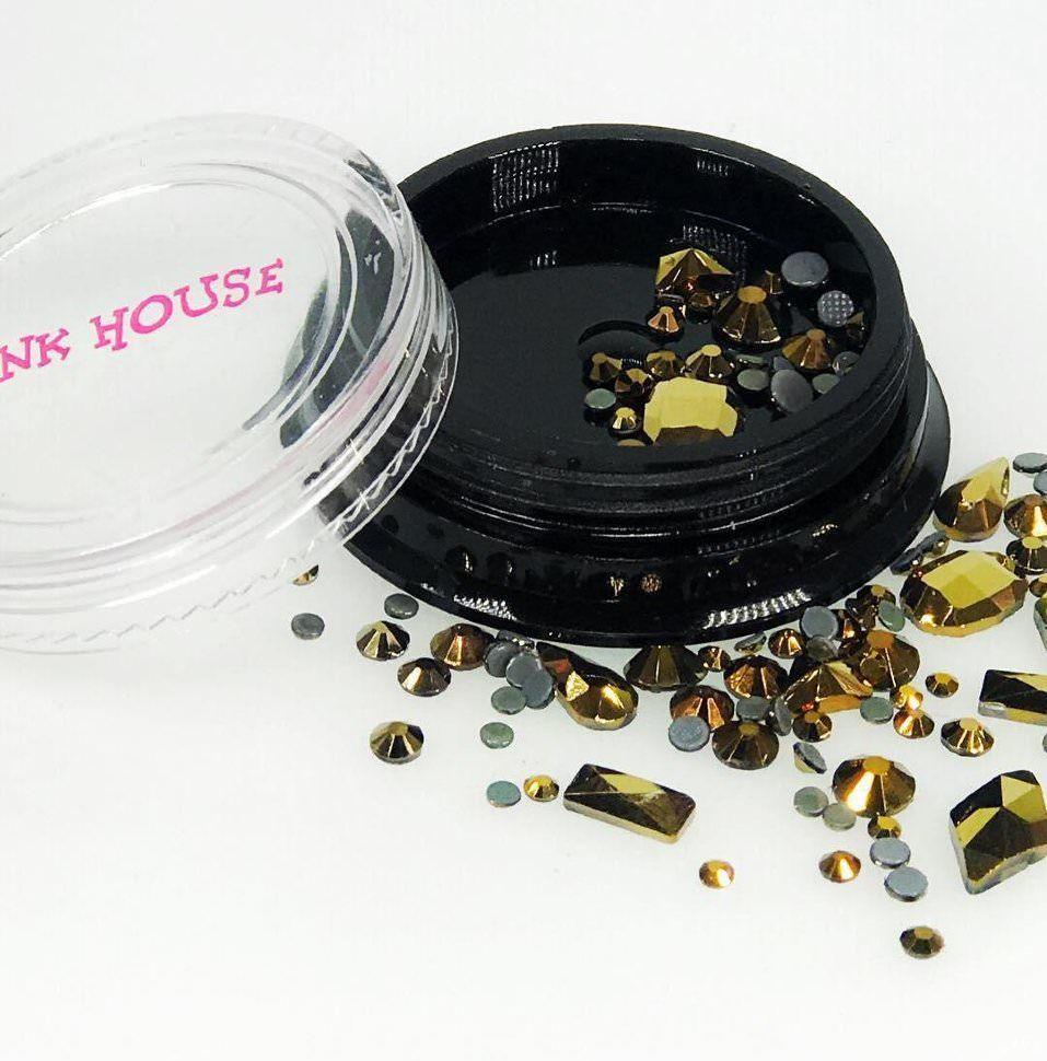 Стразы Pink House Pink House, Стразы микс золото, 10 гр Pink_House__Стразы_микс_золото__10_гр.jpg