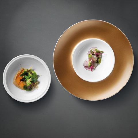 Глубокая тарелка и миска чёрные