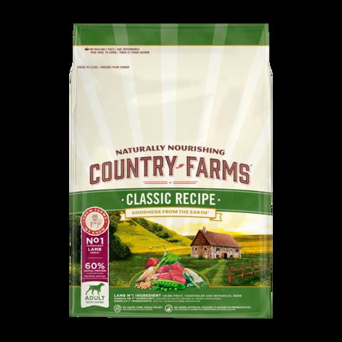 Country Farms Classic Recipe Сухой корм для взрослых собак с высоким содержанием ягненка классический, полнорационный