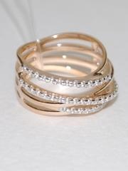 Широкое кольцо из золочёного серебра 10582