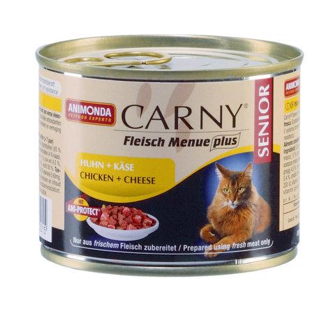 Консервы CARNY Senior с курицей и сыром для кошек старше 7 лет
