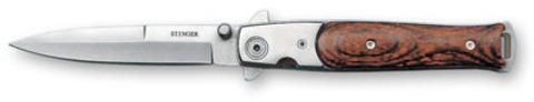 Нож Stinger, 100 мм, серебристо-коричневый