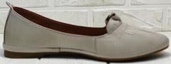 Модные туфли женские без каблука Wollen G036-1-1545-297 Vision.
