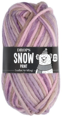 Пряжа Drops Snow Eskimo 42 пудрово-лиловый меланж