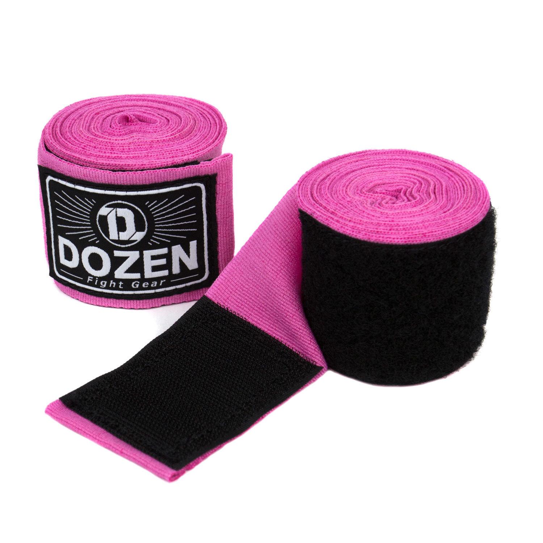 Бинты розовые Dozen Monochrome Semi-elastic общий вид