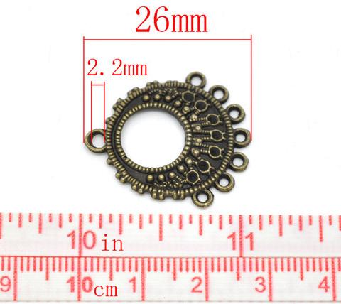 Коннектор (1-7) 26х24 мм (цвет - античная бронза) (B14466B)