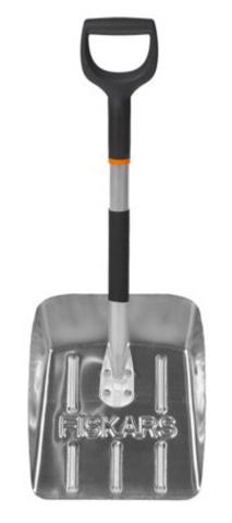 Лопата автомобильная Fiskars для уборки снега, облегченная, 71,5х25,5 см