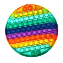 Пупырка вечная антистресс pop it (поп ит) радужный круг большой 20 см
