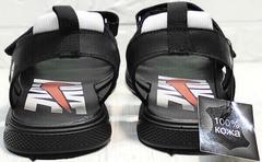 Удобные босоножки сандалии с открытой пяткой мужские Nike 40-3 Leather Black.