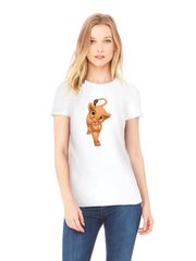 Футболка с принтом мультфильма Король Лев (The Lion King, Нала) белая w002