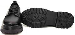 Классические туфли на грубой подошве женские Marani magli M-237-06-18 Black.