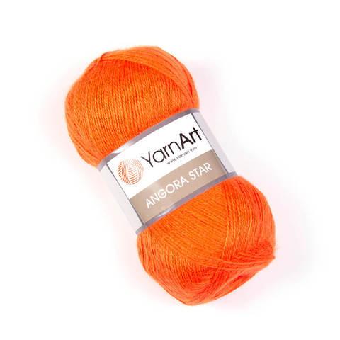 Пряжа Angora Star (Ангора Стар). Цвет: оранжевый Артикул: 206