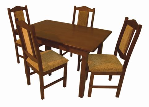 Стол обеденный ВМ22 (ВМ20) раскладной массив березы коньяк