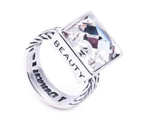 Кольцо с серебрением Релакс