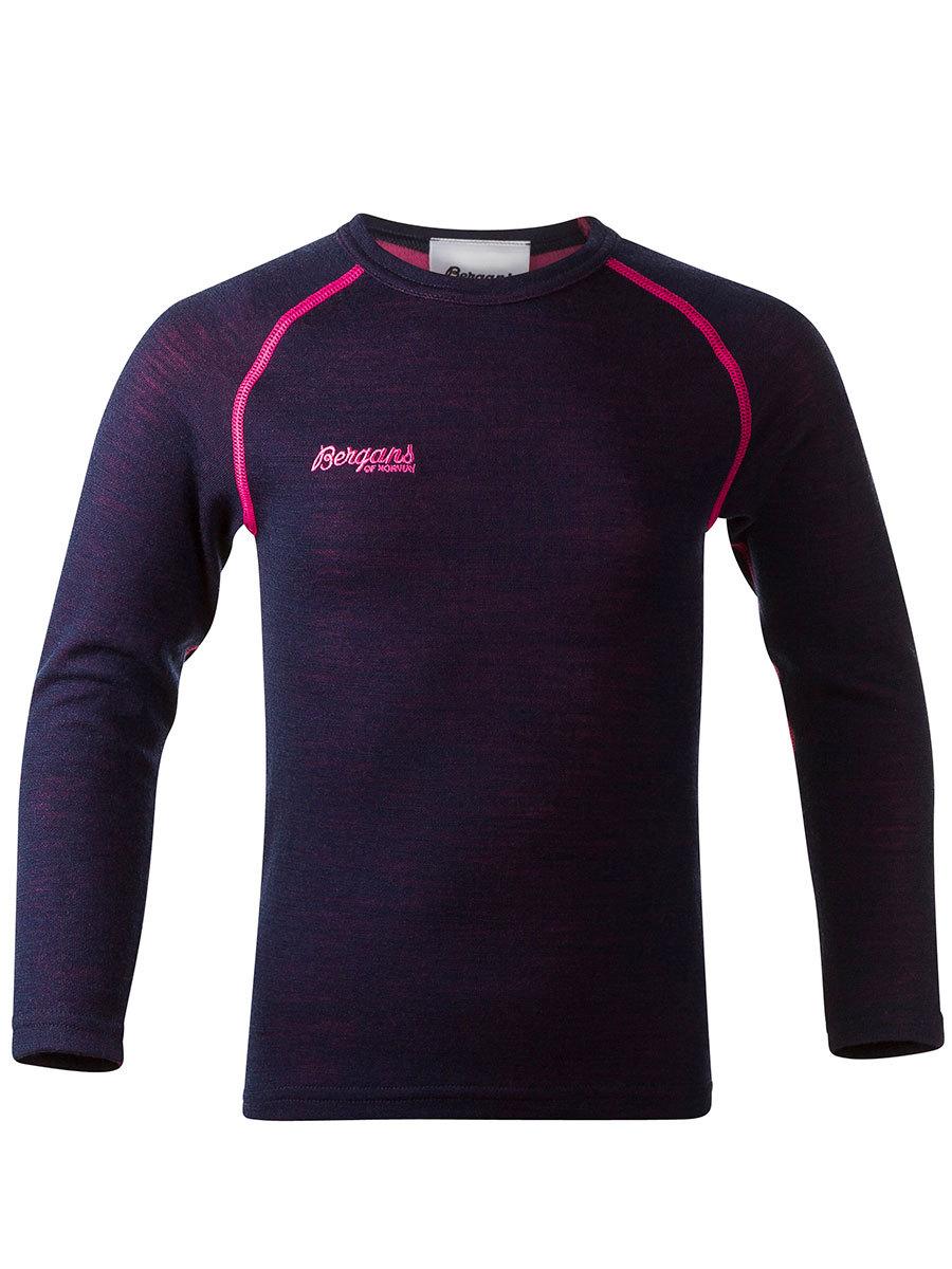 Bergans термобелье 1873 Akeleie Kids Shirt Navy/Hot Pink