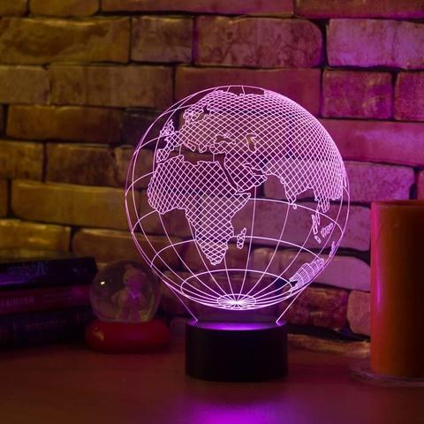 3D светильник Европа (глобус)