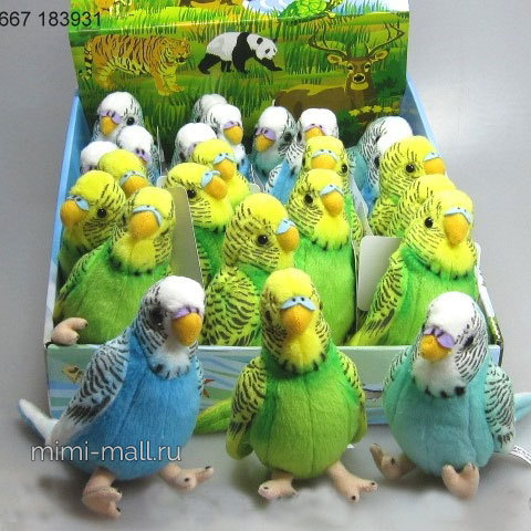 Мягкая игрушка Попугайчик 12 см (Leosco)