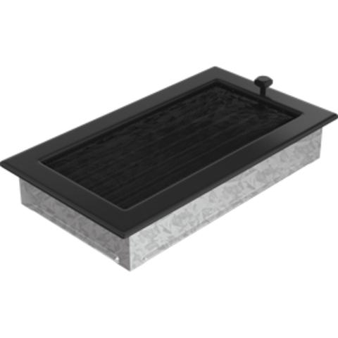 Вентиляционная решетка Черная с задвижкой (17*30) 30CX