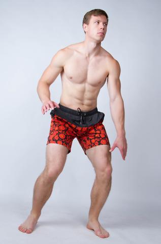 "Swim shorts ""Red khokhloma"""