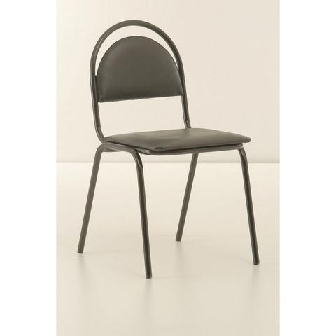 Стул офисный Easy Chair Стандарт черный (искусственная кожа/металл черный)