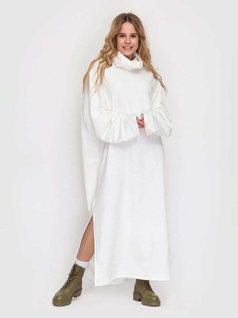 Платье шампань с разрезами YOS от украинского бренда Your Own Style