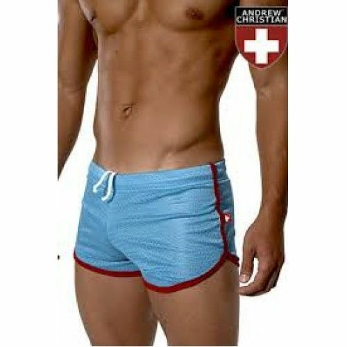 Мужские спортивные шорты Andrew Christian Retro Sports Mesh Gym Shorts Blue